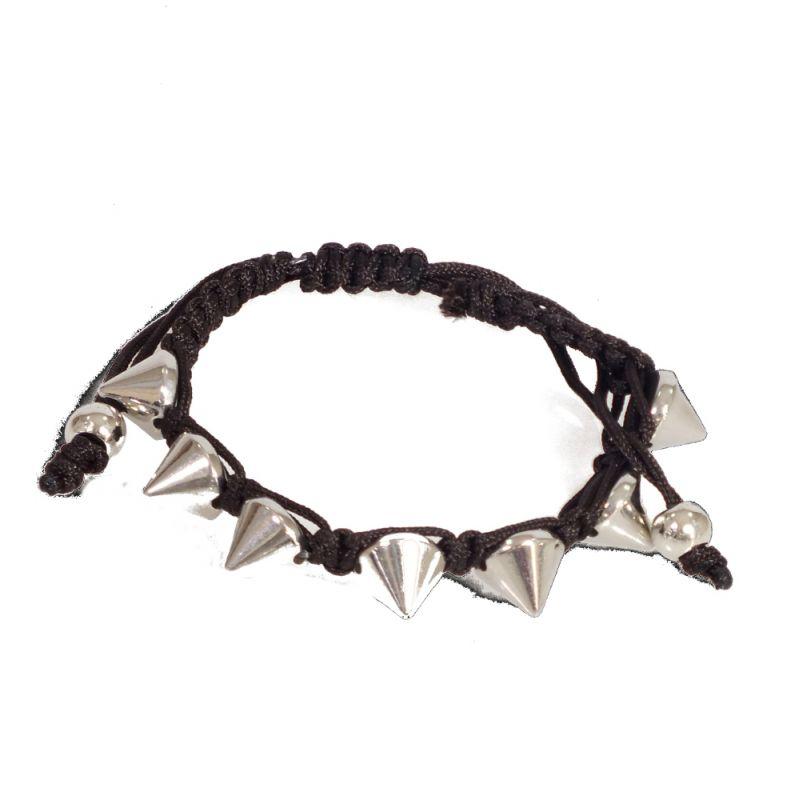 Geflochtenes Armband mit Nieten braun online kaufen - Lovely Lauri