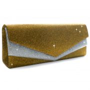 braut abendtasche party gold