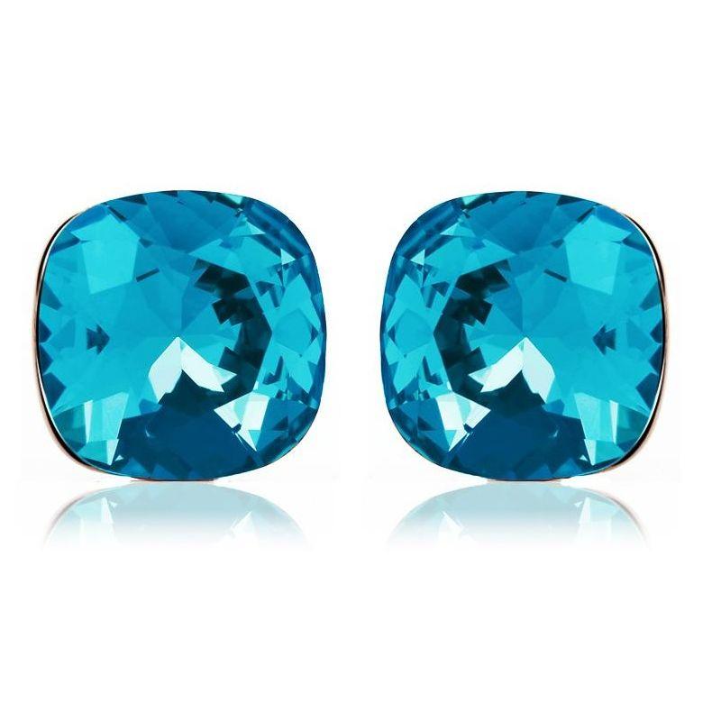 Kristall ohrringe blau