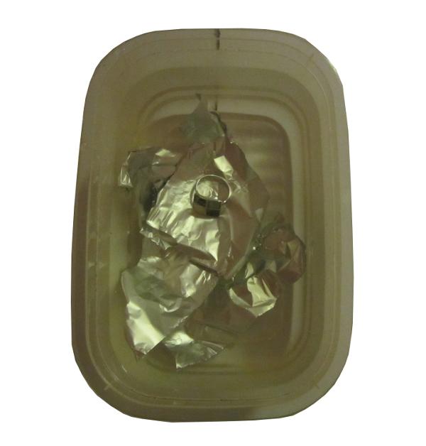 Silberschmuck mit Alufolie reinigen