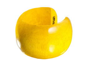 holz armreifen gelb