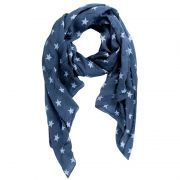 Damen Schal Made in Italy Stars Sterne Blau