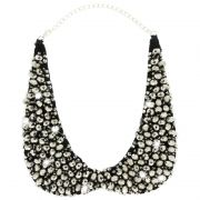 Sweet Deluxe Statement Collier Glitzer schwarz