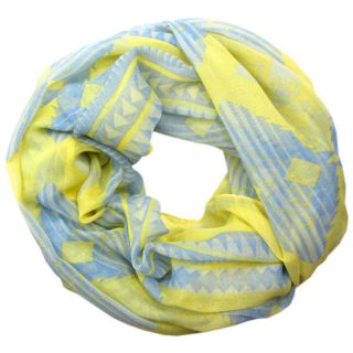 aztec loop tuch gelb yellow