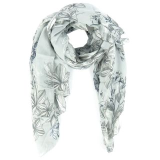 Damen Tuch Schal Blume Flower Blume Made in Italy