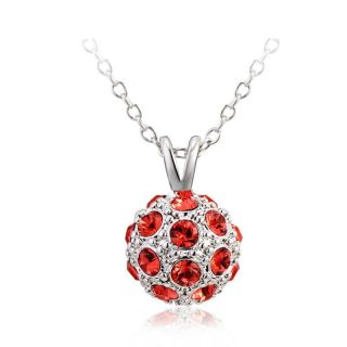 swarovski elements halskette rot