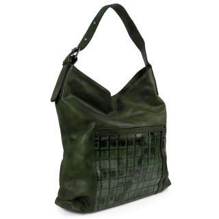 Hobo Handtasche Damen Bag Metallic Reptil