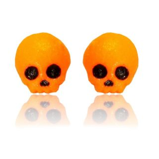 Totenkopf ohrringe kawaii orange
