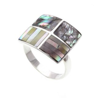 Muschel Ring Shell Cut 925 Sterling Silber