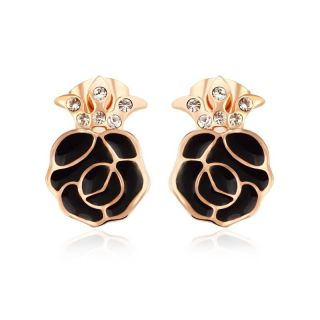 Ohrringe Black Rose gold