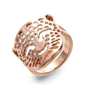 Ring Leoparden Gesicht gold