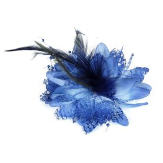 Rockabilly Mini Fascinator Faszinatoren blau