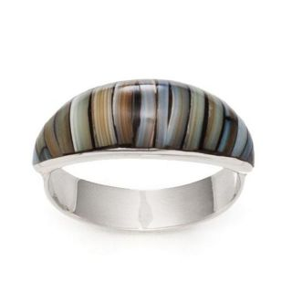 Silber Ring Blue Bamboo