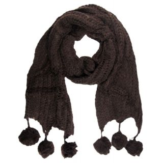 Strick Schal Winter Damen Bommel warm