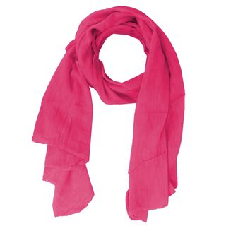 Basic Tuch Schal Made in Italy einfabig unifarben Pink meliert
